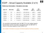 esxp actual capacity available 2 of 4