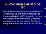 nuevo reglamento de iic3