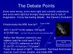 the debate points