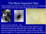 the most important star