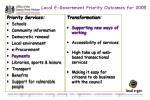 local e government priority outcomes for 2005