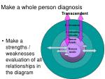 make a whole person diagnosis