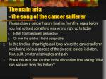 the main aria the song of the cancer sufferer