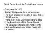 quick facts about the paris opera house
