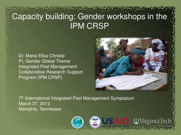 Capacity building: Gender workshops in the IPM CRSP