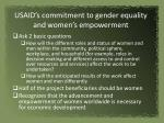 usaid s commitment to gender equality and women s empowerment