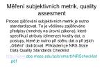 m en subjektivn ch metrik quality assesment