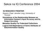 sekce na iq conference 20041