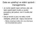data se uplat uj ve st tn spr v i managementu