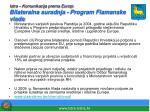 istra komunikacija prema europi bilateralna suradnja program flamanske vlade
