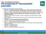 istra komunikacija prema europi ipa komponenta iv razvoj ljudskih potencijala