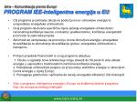 istra komunikacija prema europi program iee inteligentna energija u eu
