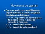 movimento de capitais