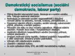 demokratick socialismus soci ln demokracie labour party