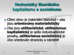 nedostatky liber ln ho kapitalismu a socialismu