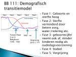 bb 111 demografisch transitiemodel