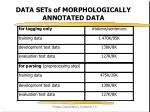 data sets of morphologically annotated data