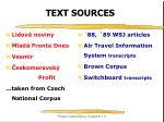 text sources