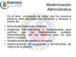modernizaci n administrativa
