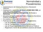 normatividad y procedimientos1