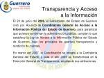 transparencia y acceso a la informaci n