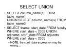 select union