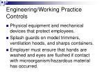 engineering working practice controls