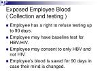 exposed employee blood collection and testing