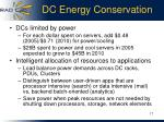 dc energy conservation