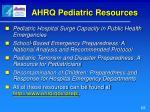 ahrq pediatric resources