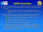 aspr activities
