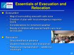 essentials of evacuation and relocation