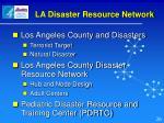 la disaster resource network