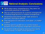 national analysis conclusions