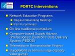 pdrtc interventions