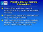 pediatric disaster training interventions