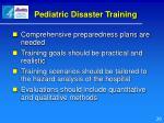 pediatric disaster training