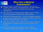 why form a national commission