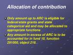 allocation of contribution