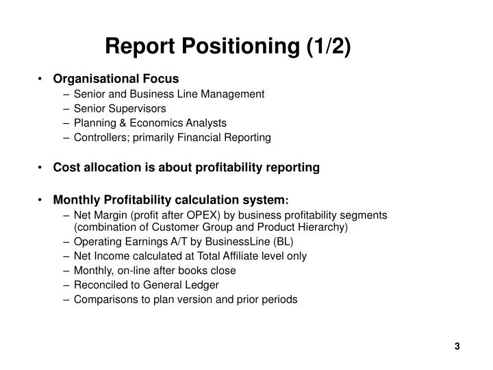 Report positioning 1 2