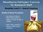 bloodborne pathogen training for research staff13