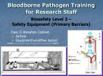 bloodborne pathogen training for research staff9