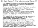 q1 study source a what is the purpose of source a