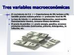 tres variables macroecon micas