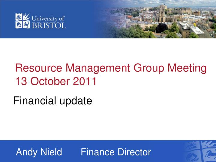 resource management group meeting 13 october 2011 n.