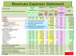 revenues expenses statement