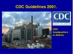 cdc guidelines 2001