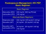 postexposure management hiv pep basic regimen