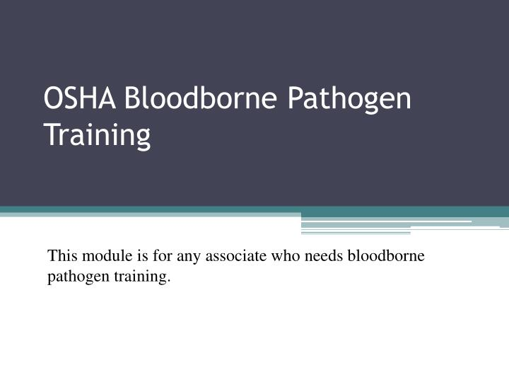 osha bloodborne pathogen training n.