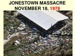 jonestown massacre november 18 1978